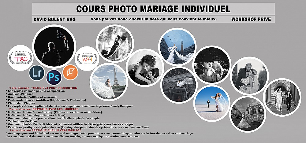WORKSHOP PRIVE | COURS PHOTO MARIAGE INDIVIDUEL